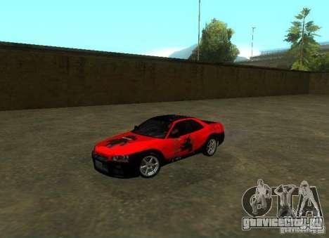 Nissan Skyline GTR-34 для GTA San Andreas салон