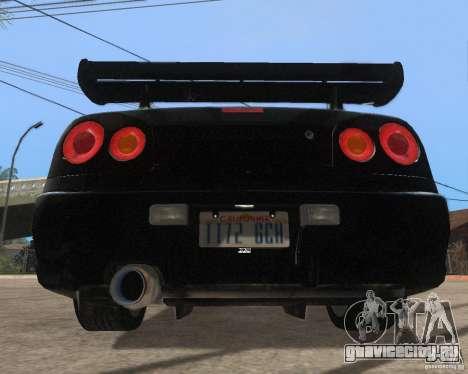 Nissan Skyline GT-R R34 для GTA San Andreas вид сзади слева