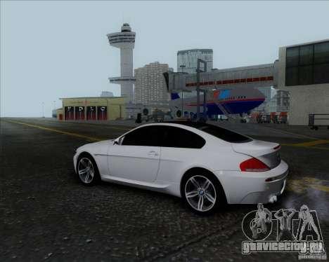 BMW 6 Series M для GTA San Andreas вид изнутри
