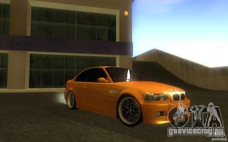 BMW M3 E46 V.I.P для GTA San Andreas вид сбоку