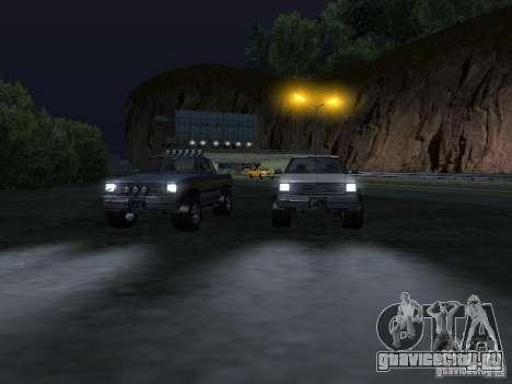 Rancher из GTA 4 для GTA San Andreas вид изнутри