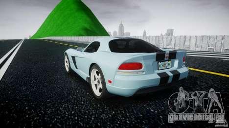 Dodge Viper SRT-10 для GTA 4 вид сзади слева