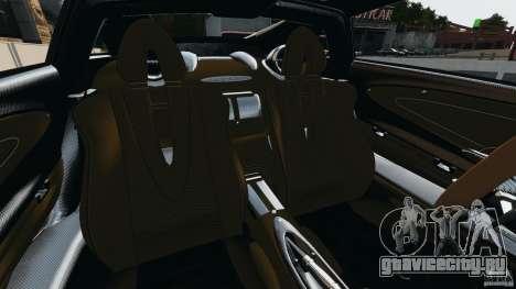 Pagani Huayra 2011 v1.0 [RIV] для GTA 4 вид изнутри