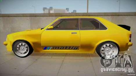 Opel Kadett D GTE Mattig Tuning для GTA San Andreas вид слева