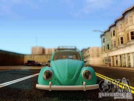 Volkswagen Beetle 1300 для GTA San Andreas вид сзади