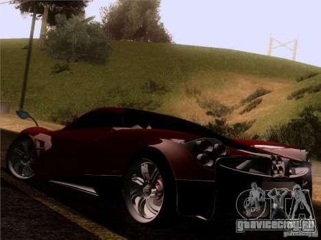 Pagani Huayra 2012 для GTA San Andreas вид сзади слева