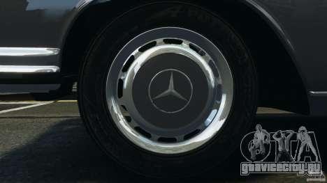 Mercedes-Benz 300Sel 1971 v1.0 для GTA 4 двигатель