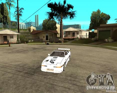 Toyota Supra MK3 Tuning для GTA San Andreas вид изнутри