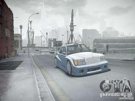 Mercedes 190E Evo2 для GTA 4 вид снизу