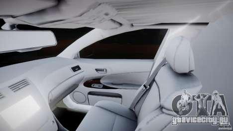 Lexus GS450 2006 Limousine для GTA 4 вид изнутри