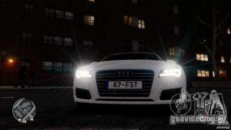 Audi A7 Sportback для GTA 4 вид сверху