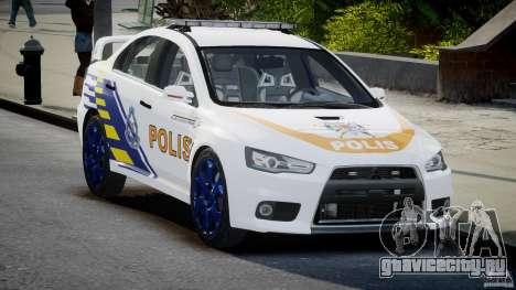 Mitsubishi Evolution X Police Car [ELS] для GTA 4