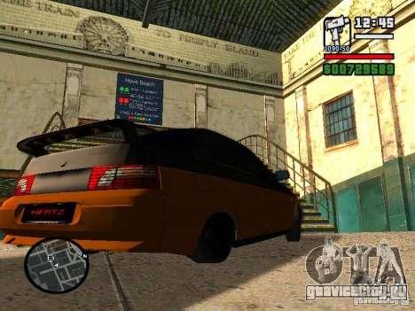 VAZ 2110 HERTZ-style(D.A.G) Апельсин для GTA San Andreas вид сзади слева