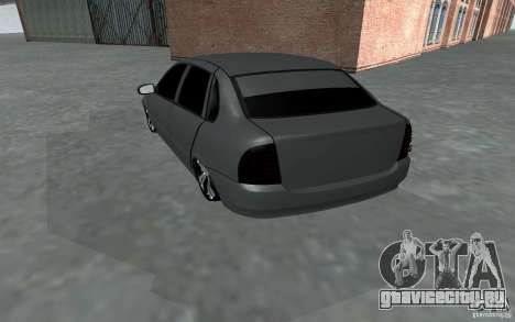 ВАЗ Калина для GTA San Andreas вид сзади слева