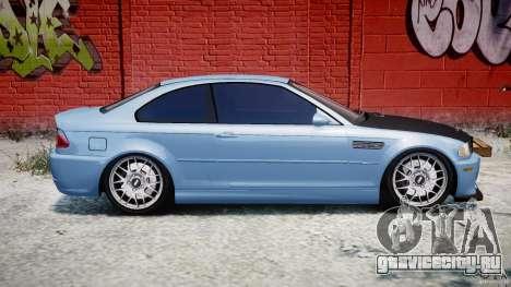 BMW M3 E46 Tuning 2001 для GTA 4 вид сбоку