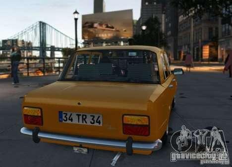 Fiat 124 для GTA 4 вид справа
