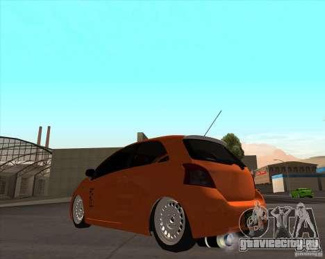 Toyota Yaris II Pac performance для GTA San Andreas вид слева