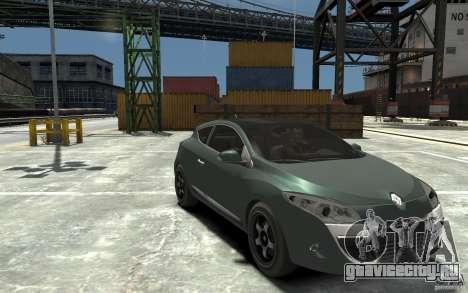 Renault Megane Coupe для GTA 4 вид сзади