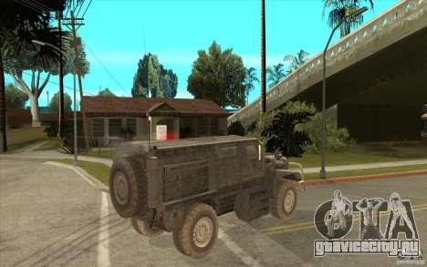 Military Truck для GTA San Andreas вид сзади