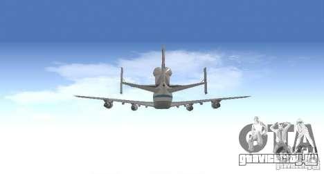Boeing 747-100 Shuttle Carrier Aircraft для GTA San Andreas вид изнутри