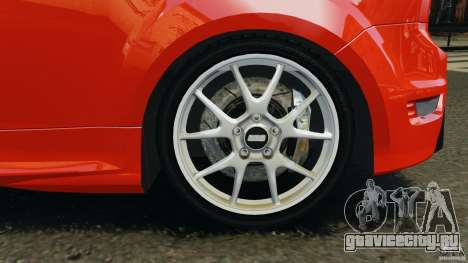 Ford Focus RS для GTA 4 вид снизу