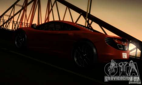 McLaren MP4-12C TT Black Revel для GTA San Andreas вид сзади