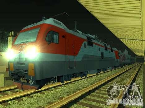 ЭП1М-392 ОАО РЖД для GTA San Andreas вид сзади слева