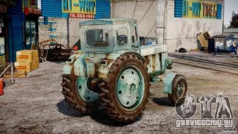 Трактор T-40M для GTA 4 вид сбоку