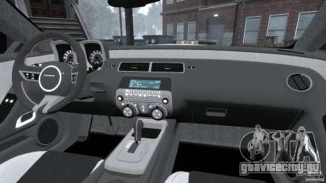 Chevrolet Camaro v1.0 для GTA 4 вид сверху