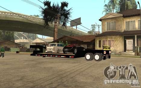 Trailer lowboy transport для GTA San Andreas вид слева