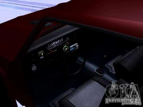 Chevrolet Nova SS для GTA San Andreas вид изнутри