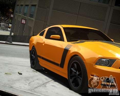 Ford Mustang Boss для GTA 4 вид слева