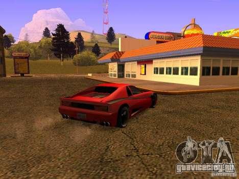 New Cheetah для GTA San Andreas вид слева
