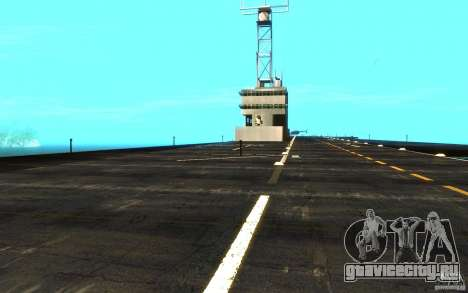 New Aircraft carrier для GTA San Andreas вид изнутри