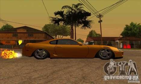 Toyota Supra Drift для GTA San Andreas вид справа