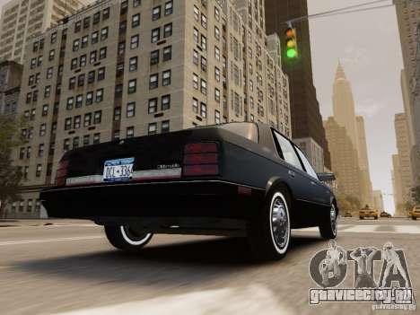 Oldsmobile Cutlass Ciera 1993 для GTA 4 вид снизу