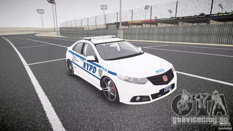 Honda Accord Type R NYPD (City Patrol 1090) ELS для GTA 4 вид сзади