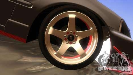 Honda Civic SI для GTA San Andreas вид снизу
