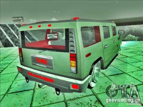 Hummer H2 Phantom для GTA San Andreas вид слева