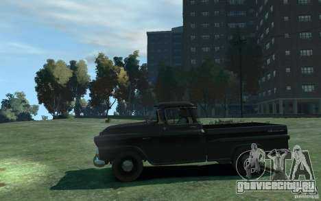 Chevrolet Apache Fleetside 1958 для GTA 4 вид слева