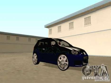 Volkswagen Golf V GTI для GTA San Andreas вид сзади
