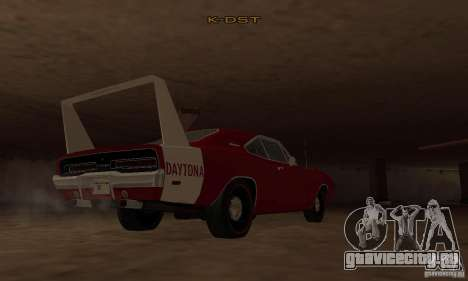 Dodge Charger Daytona 1969 для GTA San Andreas вид сзади слева
