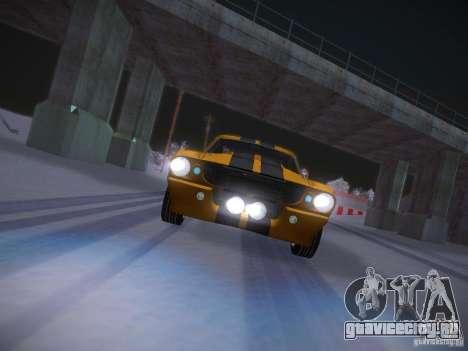 Shelby GT500 Eleanor для GTA San Andreas вид сверху
