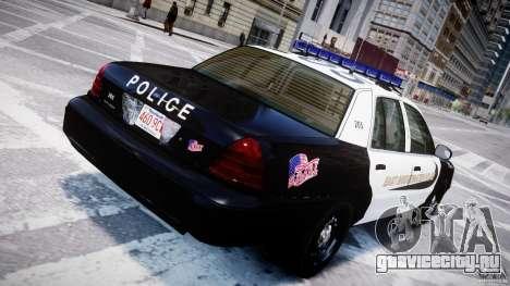 Ford Crown Victoria Massachusetts Police [ELS] для GTA 4 салон