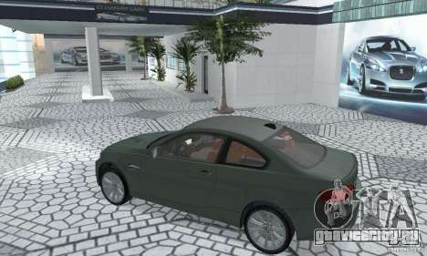 BMW M3 E92 Stock для GTA San Andreas вид сзади