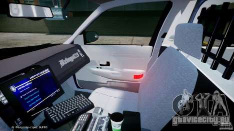 Ford Crown Victoria New York State Patrol [ELS] для GTA 4 вид изнутри
