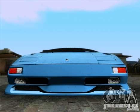 Lamborghini Diablo SV V1.0 для GTA San Andreas двигатель