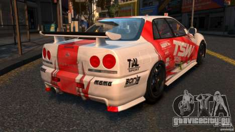 Nissan Skyline ER34 Nismo Z Tune для GTA 4 вид сзади слева
