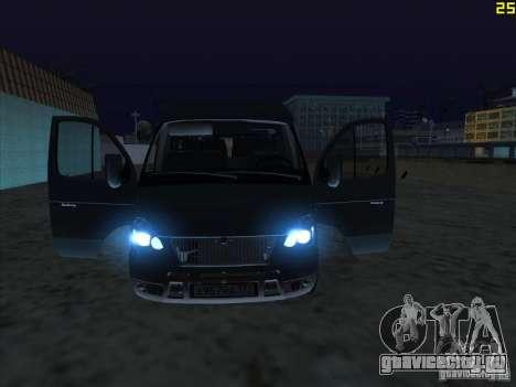 ГАЗ 22172 Соболь для GTA San Andreas вид справа