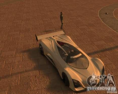 Mazda Furai для GTA 4 вид сзади слева